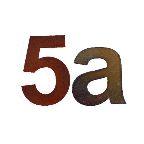 Hausnummern Cortenstahl